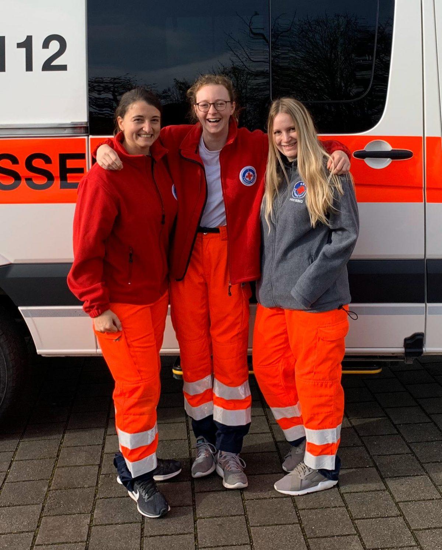 vl.nr.: Sarah Brunschweiger, Meret Rutenberg, Paula Mikan